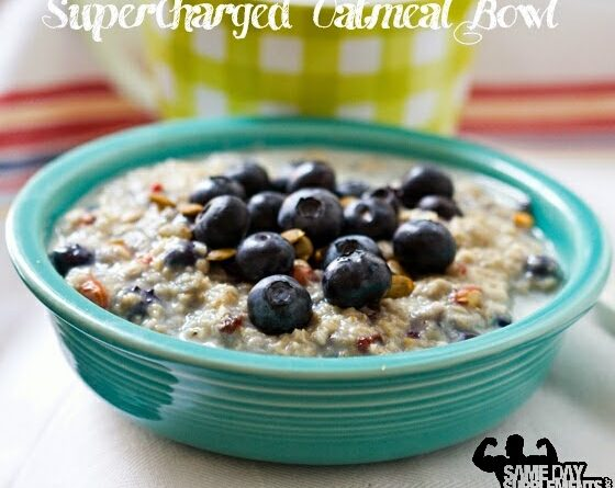 SuperCharged Oatmeal Bowl Healthy Meal Recipe