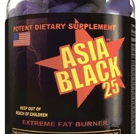 Asia black 25 Ephedra by Cloma Pharma Review Fat Burner