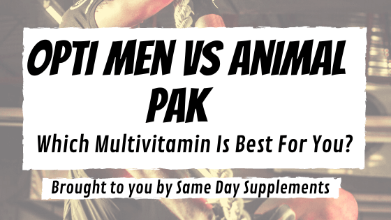 Opti-Men VS Animal Pak banner
