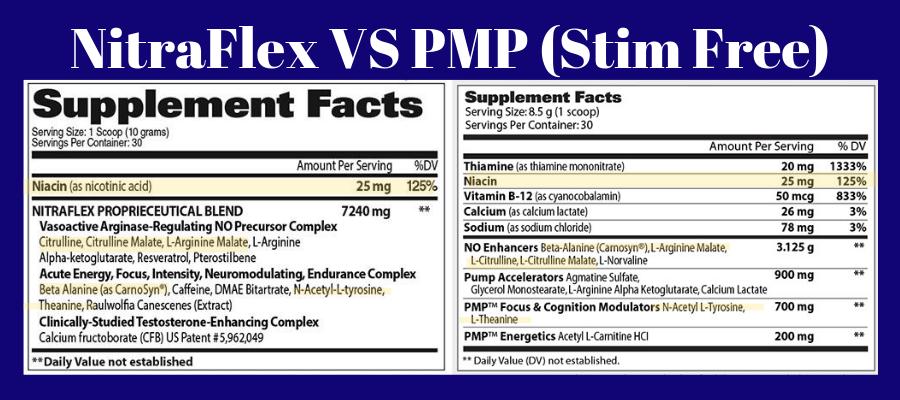 NitraFlex VS PMP (Stim Free)