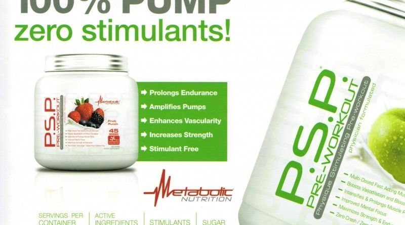 PSP Pre Workout Banner