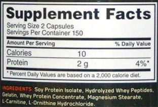 Superior Amino 2222 Caps Supplement Facts