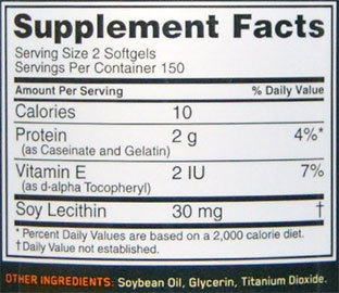 Superior Amino 2222 Softgels Supplement Facts