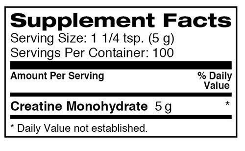 Dymatize Creatine Supplement Facts
