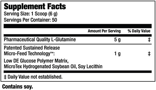 Glutamine SR Supplement Facts