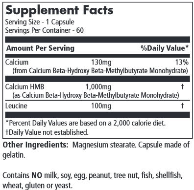 MRM HMB 1000 Supplement Facts