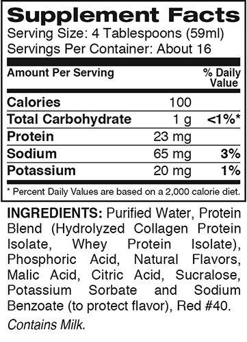 Super Amino Liquid Supplement Facts