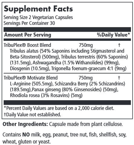 TribuPlex 750 Supplement Facts