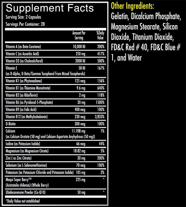 iForce Athletic Multi Supplement Facts