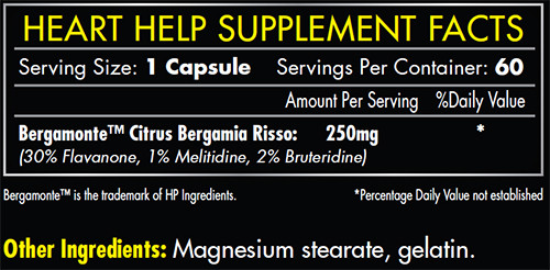 iForce Heart Help Supplement Facts