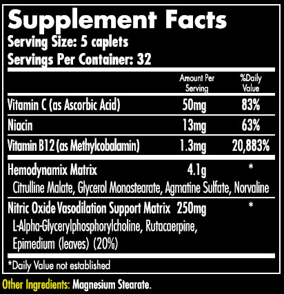 Hemavol Caps Supplement Facts