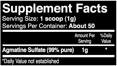 iForce Agmatine Supplement Facts