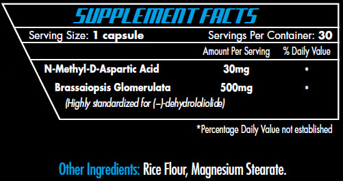 Intimidate SRT Supplement Facts