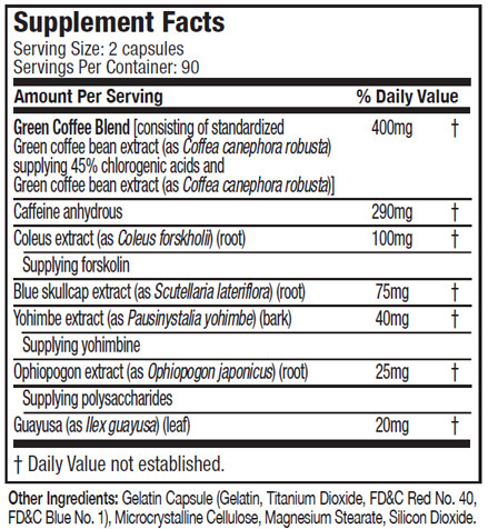 Muscletech Hydroxycut Next Gen Supplement Facts