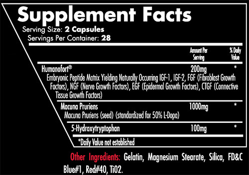 iForce Out Cold Supplement Facts