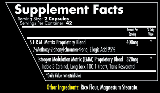 Reversitol V2 Supplement Facts