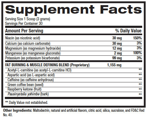 Stim Elite Supplement Facts