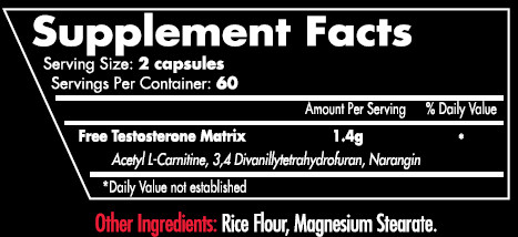 Testabolan V2 Supplement Facts