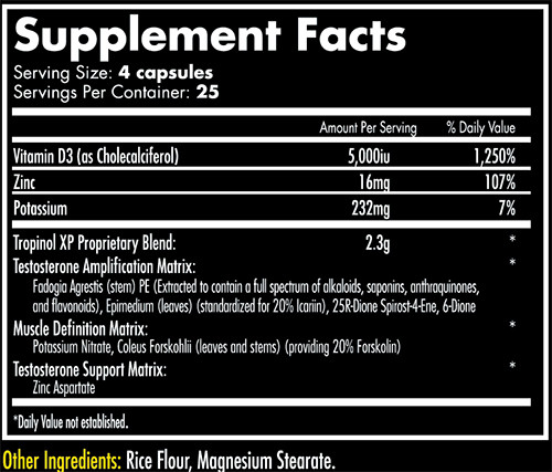 Tropinol XP Supplement Facts