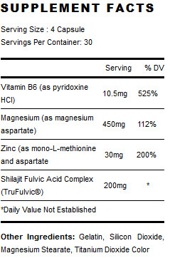 PES TruZMA Supplement Facts