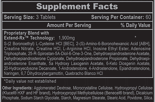 Hi-Tech Anavar Supplement Facts