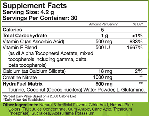 Iron Cre3 Supplement Facts