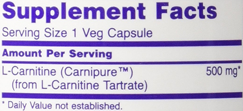 NOW L-Carnitine - VCaps Supplement Facts