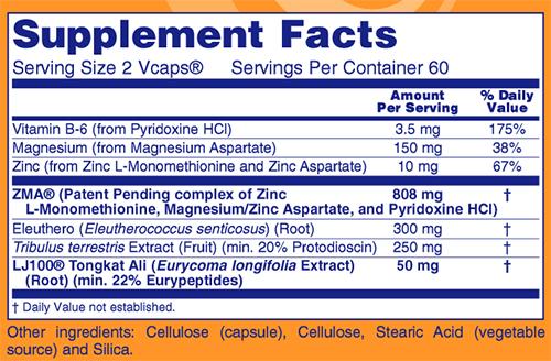 TestoJack 100 Supplement Facts