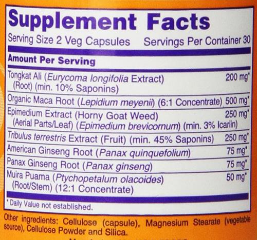 TestoJack 200 Supplement Facts