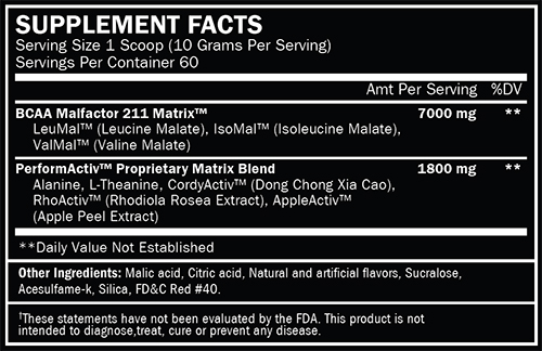 ALRI Chain'd Out Supplement Facts