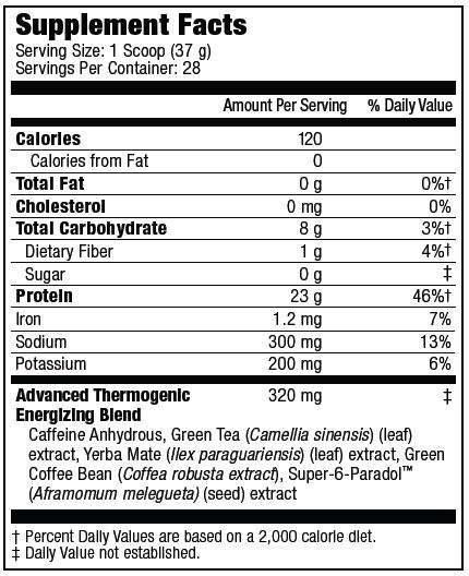 Carnivor Shred Supplement Facts