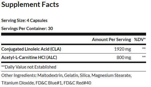FinaFlex ALC CLA Supplement Facts