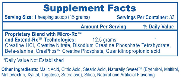 Phosaphagen Supplement Facts