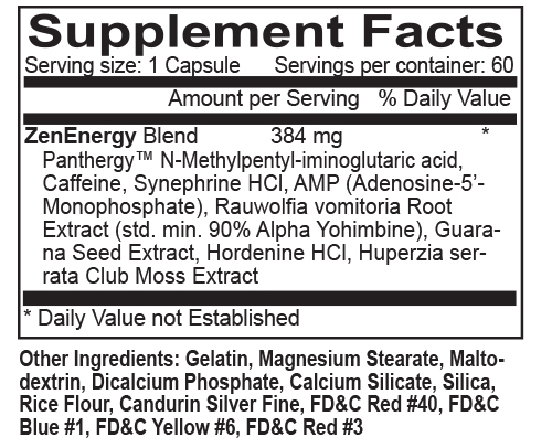 Thermogen Heat Supplement Facts