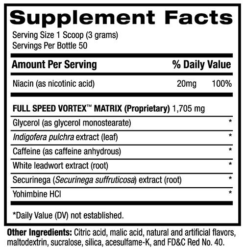 1MR Vortex Supplement Facts