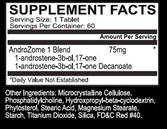EPG Androzome-1 Supplement Facts