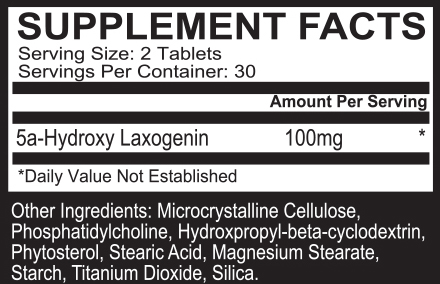 EPG Laxozome Max Supplement Facts