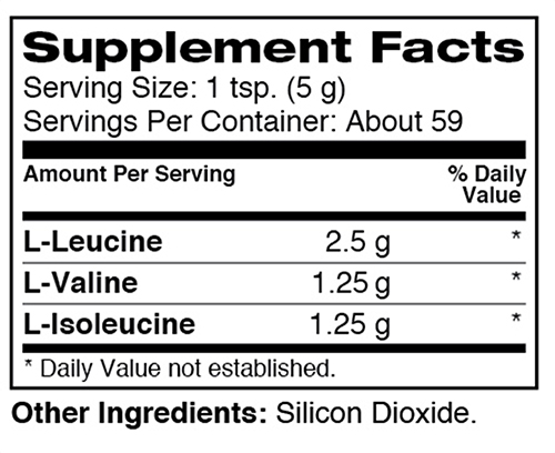 Dymatize BCAA Powder Supplement Facts