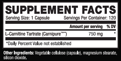 Kaged Muscle L-Carnitine 120 Supplement Facts