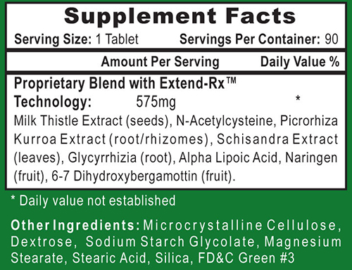 Liver Rx Supplement Facts