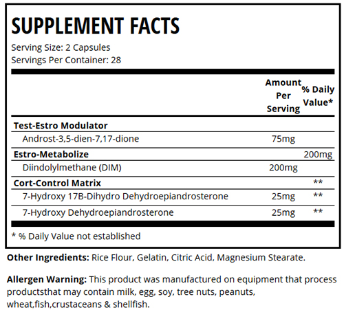 Nolvadren XT Supplement Facts