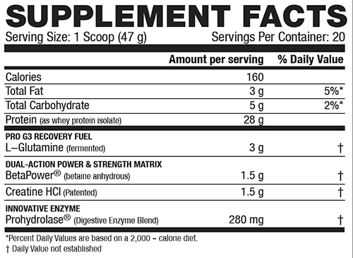 Re Kaged Protein Supplement Facts