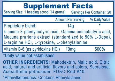 Somatomax Berry Banana Supplement Facts