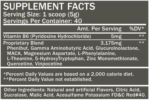 REM 8.0 Supplement Facts