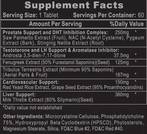 Arimiplex PCT Supplement Facts