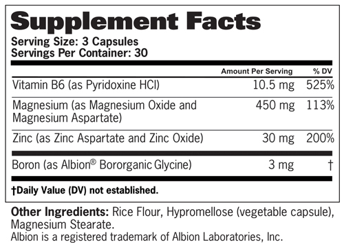 GAT ZMAG T Supplement Facts