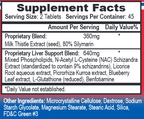 Liver MD Supplement Facts