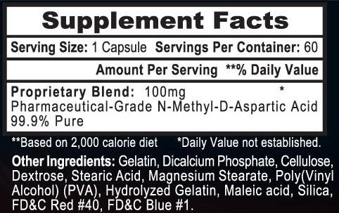NMDA 100 Supplement Facts