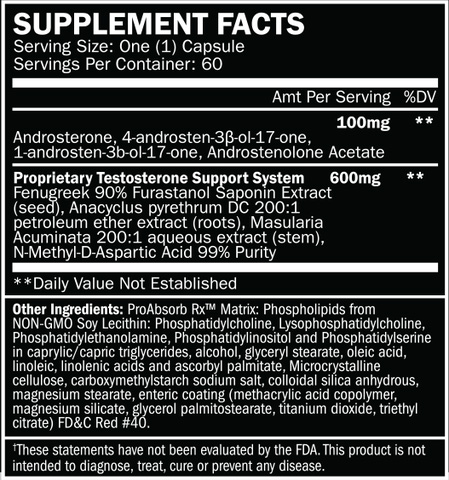 Metanabol Supplement Facts