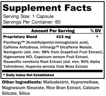 Hypercuts Supplement Facts